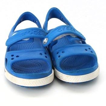 Dětské sandále Crocs modré na suchý zip