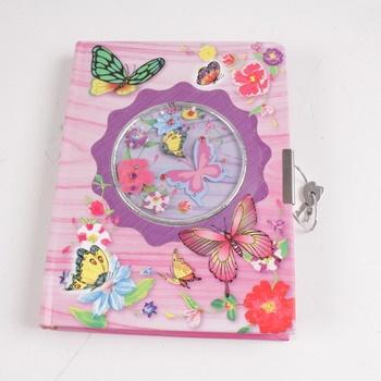 Dětský zamykatelný deník Legler růžový