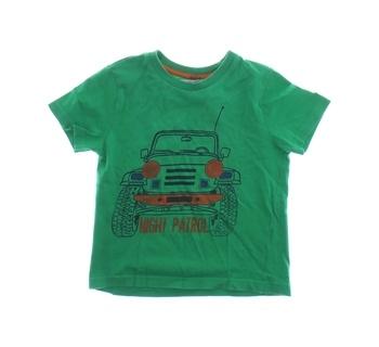 Dětské tričko F&F zelené s obrázkem auta