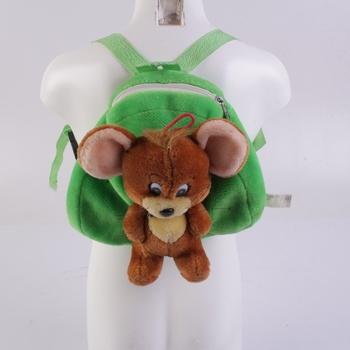 Dětský batoh Tom&Jerry zeleno-hnědý