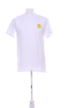 Pánské tričko B&C bílé se smajlíkem