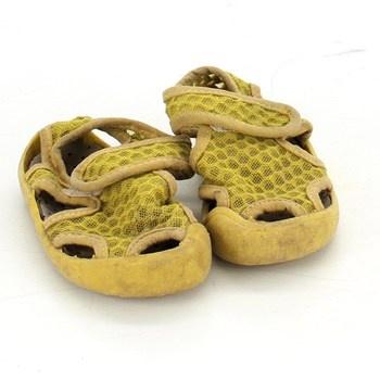 Dětská obuv sandály na suchý zip žluté