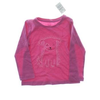 Dětské tričko GAP růžové s pejskem