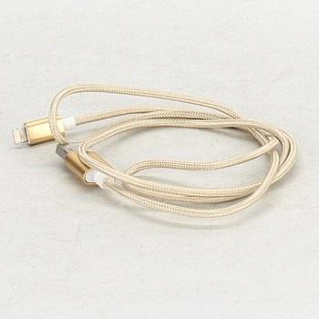 Kabel USB a microUSB Apple 03142 zlatý