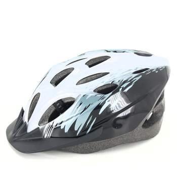 Cyklistická helma černotyrkysová