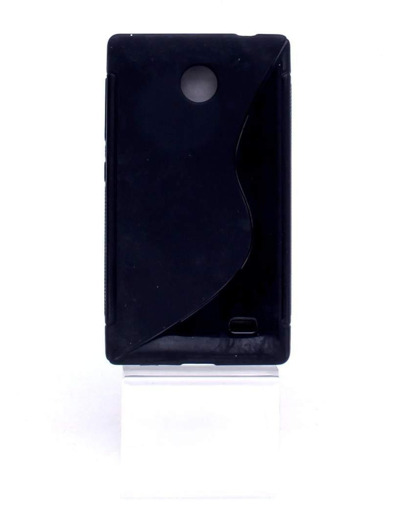 Černý silikonový obal na mobil