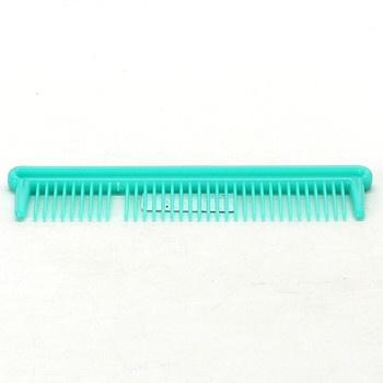 Hřeben na vlasy plastový  zelený