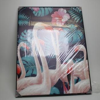 Nástěnný obraz Kare Flamingo