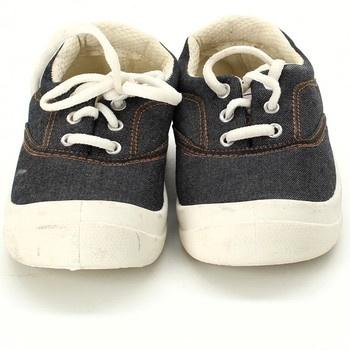 Dětské tenisky nízké na zavazování černé