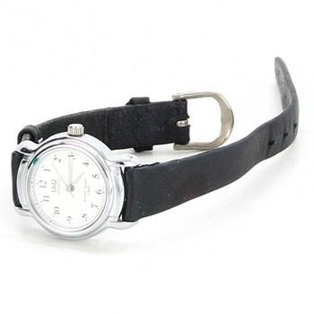 Elegantní hodinky QUARTZ s černým řemínkem