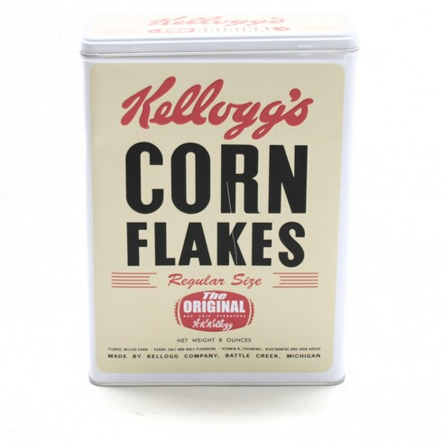 Plechová dóza Kellogg's Corn Flakes
