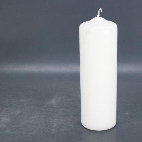 Dekorativní svíčka 25 cm bílá