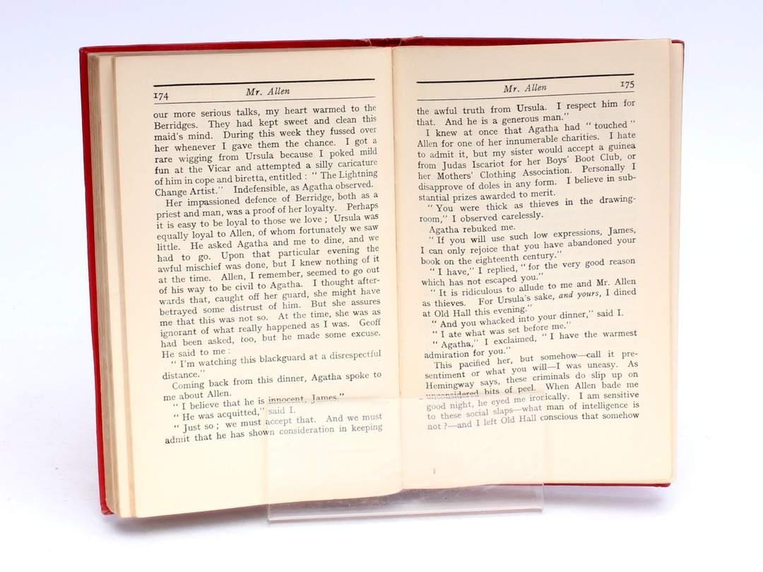 Kniha H. A. Vachell a A. Marshall: Mr. Allen