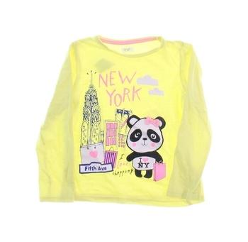Dětské tričko F&F žluté s pandou