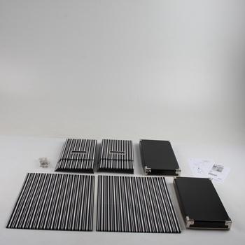 Úložné boxy IKEA Kassett černobílé pruhy 2ks