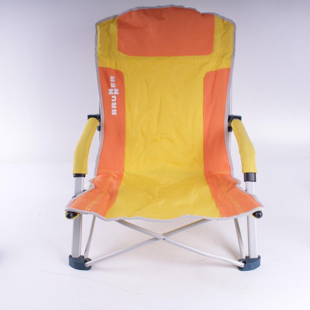 Žluto oranžové plážové křeslo Brunner