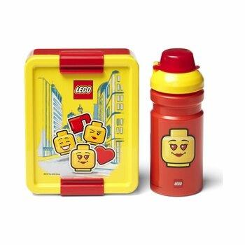 Svačinový box Lego Iconic Girl s lahví