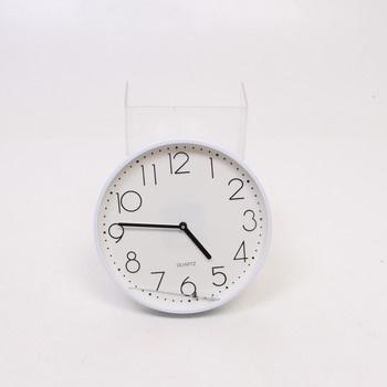 Bílé analogové hodiny Hama PG220
