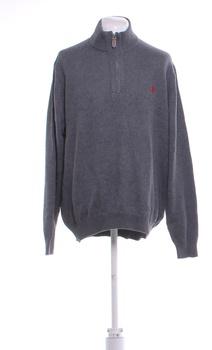 Pánský svetr U.S. Polo Assn. šedý XXL
