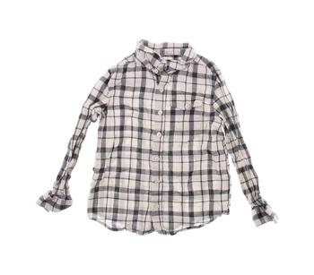 Dětská košile F&F černo šedá kostkovaná