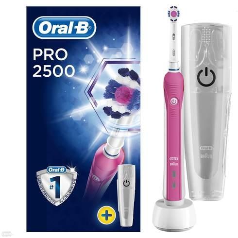 Elektrický zubní kartáček Oral-B PRO růžový