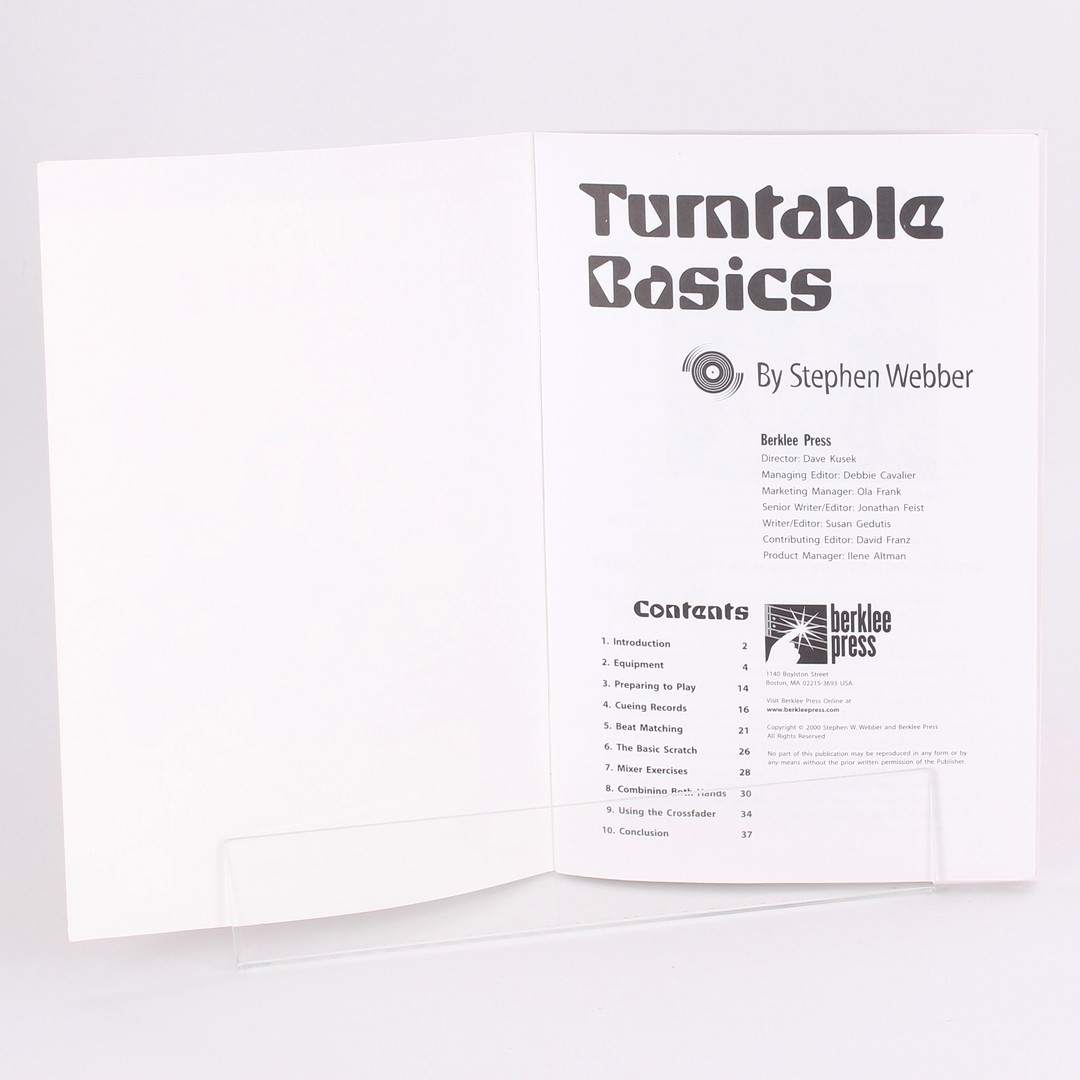 Příručka Turntable Basics Stephen Webber