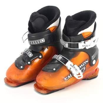 Lyžařské boty Salomon oranžové