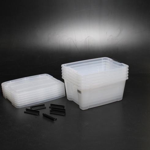 Plastové boxy Iris Ohyama 15l, 6 ks