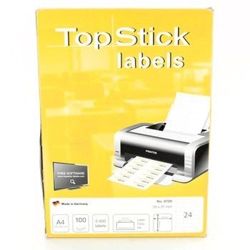 Samolepící papíry se štítky TopStick 8706