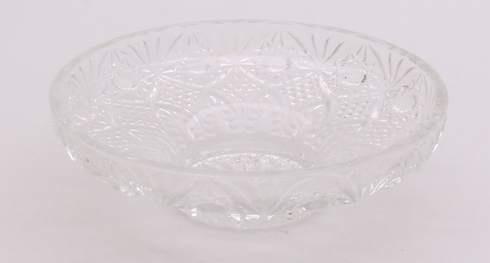 Kulatá mísa z broušeného skla