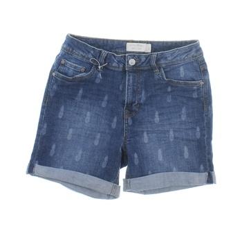 Dámské šortky Tom Tailor modré motiv ananasu
