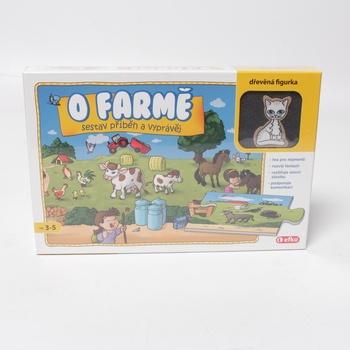 Puzzle Efko O farmě s dřevěnou kočičkou