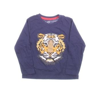 Dětské tričko Lupilu modré s tygrem