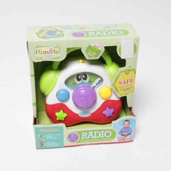 Plastové rádio Teddies 14cm