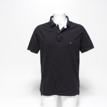Pánské polo triko Tommy Hilfiger černé L
