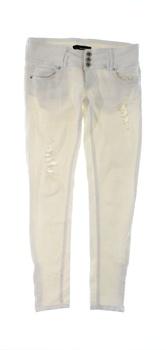 Dámské kalhoty Tally Weijl bílé s dírami