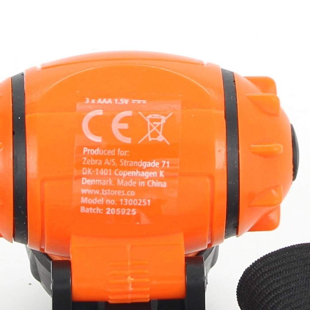 Čelovka 7 x 7 cm oranžová