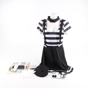 Dámský kostým Smiffys černobílý Mim