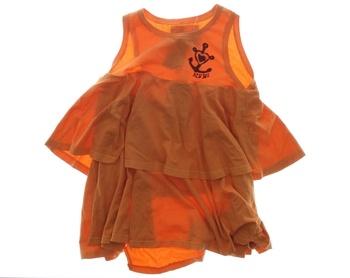 Dívčí šaty Diesel oranžové