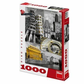 Puzzle 1000 DINO Praha koláž