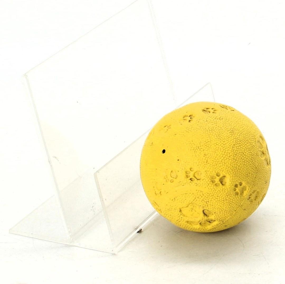 Gumový míček pro psy žlutý