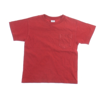 Dětské tričko GAP červené s kapsou