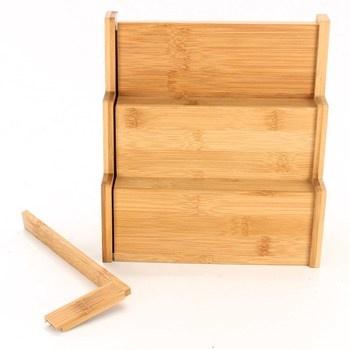 Dřevěná police na kořenky