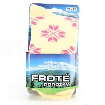 a35fb6767463 Dětské froté ponožky NOVIA béžové se vzory