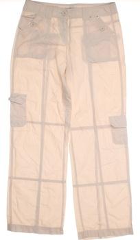 Dámské plátěné kalhoty George béžové