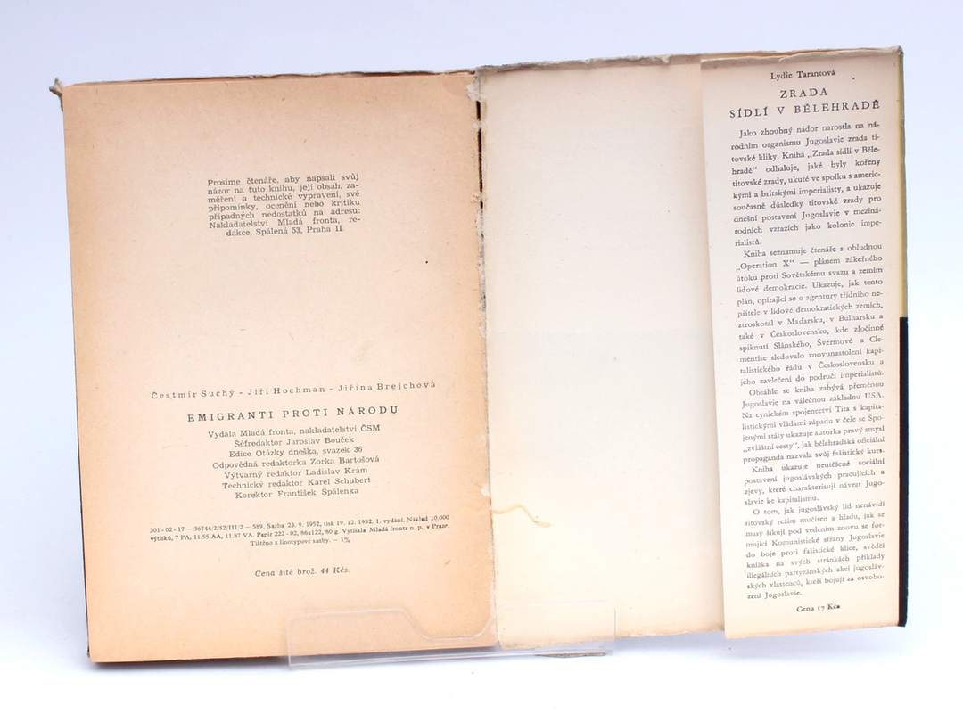 Kniha Emigranti proti národu