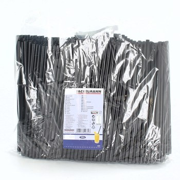 Slámky Fackelmann 54639 černé 500 ks