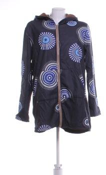 Dámská podzimní bunda s kapucí černá XL