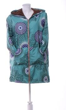 Dámská podzimní bunda s kapucí zelená L