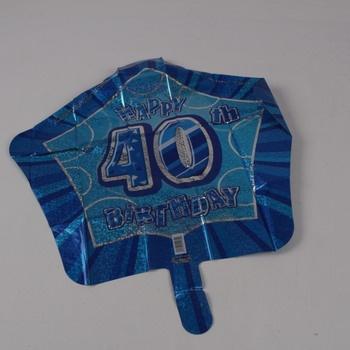 Párty balón Unique Happy 40th Birthday